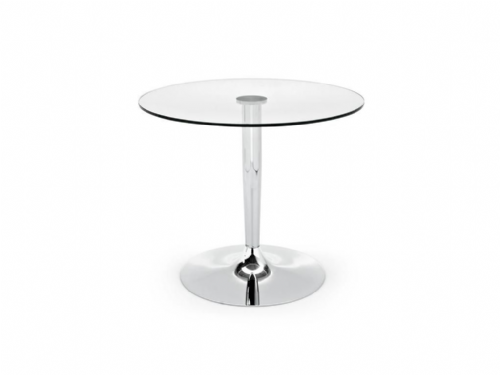 Hygena Ronda Pedestal Clear Glass table